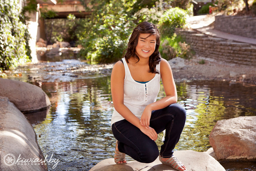 San Luis Obispo creek senior pictures