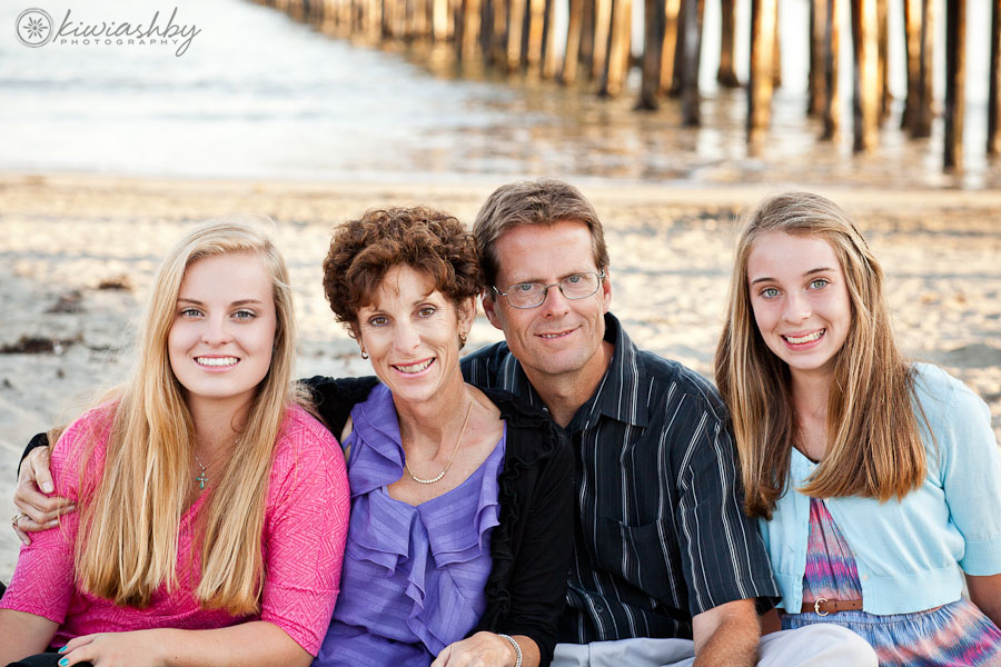 family portraits at the pier